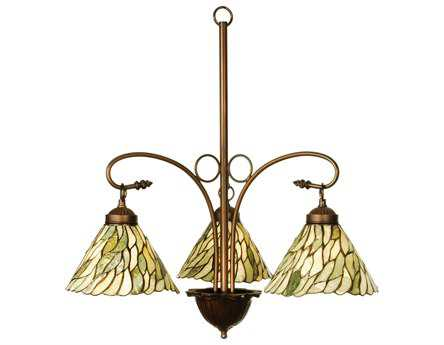 Meyda Tiffany Jadestone Willow Three-Light 24 Wide Mini-Chandelier