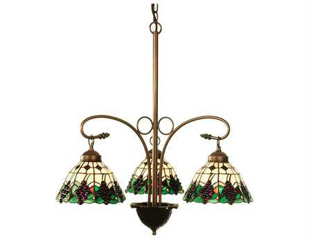 Meyda Tiffany Grape Three-Light 24 Wide Chandelier
