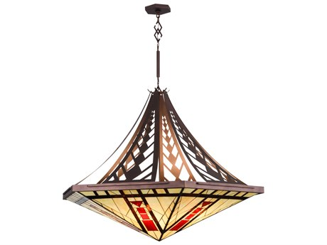 Meyda Tiffany North Sonoma Inverted Eight-Light Pendant Light
