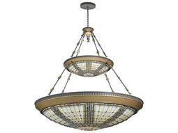 Meyda Tiffany Fleur-De-Lis 2 Tier 14-Light Inverted Pendant Light