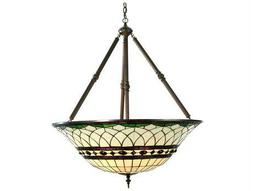 Meyda Tiffany Roman Inverted Four-Light Pendant Light