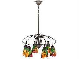 Meyda Tiffany Iris Six-Light 26 Wide Chandelier