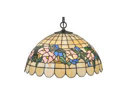 Meyda Tiffany Pansy Three-Light Pendant Light