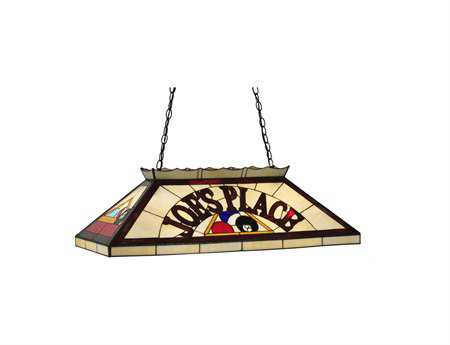 Meyda Tiffany Personalized Joe's Place Oblong Six-Light Pendant Light