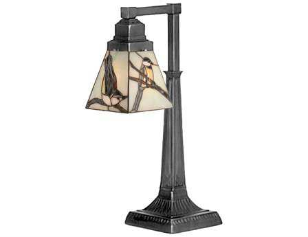 Meyda Tiffany Early Morning Visitors Multi-Color Desk Lamp