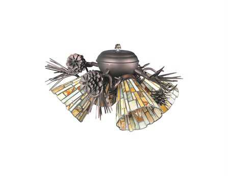 Meyda Tiffany Jadestone Delta Four-Light Fan Light Fixture