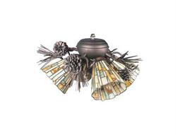 Meyda Tiffany Jadestone Delta Four-Light Fan Light Fixture
