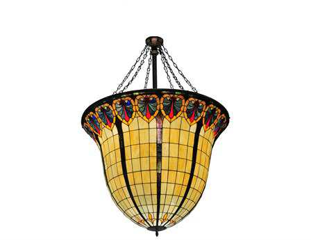 Meyda Tiffany Nouveau Spade Inverted 12-Light Pendant Light