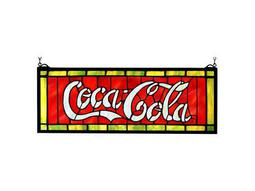 Meyda Tiffany Coca-Cola Stained Glass Window