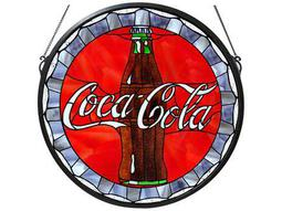 Meyda Tiffany Coca-Cola Bottle Cap Medallion Stained Glass Window