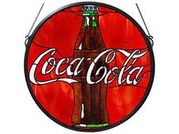 Meyda Tiffany Coca-Cola Button Medallion Stained Glass Window