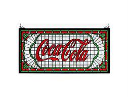 Meyda Tiffany Coca-Cola Victorian Web Stained Glass Window