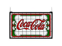 Meyda Tiffany Coca-Cola Nouveau Stained Glass Window