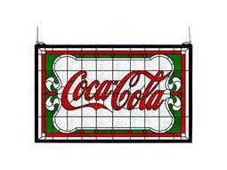 Meyda Tiffany Coca-Cola Nouveau Stained Glass Window