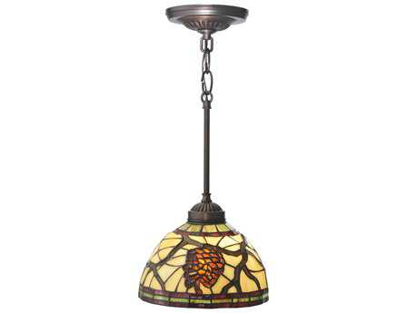 Meyda Tiffany Burgundy Pinecone Mini-Pendant Light
