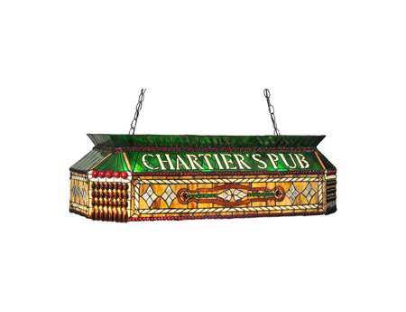 Meyda Tiffany Personalized Chartier's Pub Three-Light Oblong Pendant Light