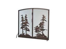 Meyda Tiffany Tall Pines Operable Door Arched Fireplace Screen