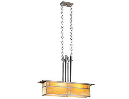 Meyda Tiffany Double Bar Mission Oblong Two-Light Pendant Light