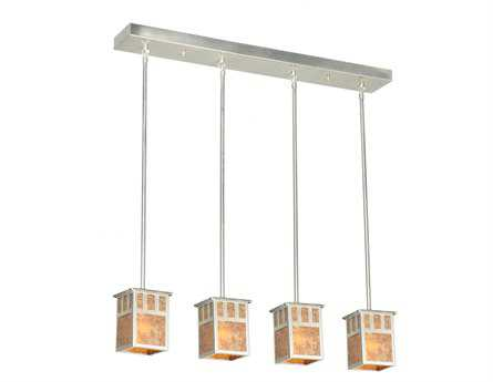 Meyda Tiffany Double Bar Mission Four-Light Island Light