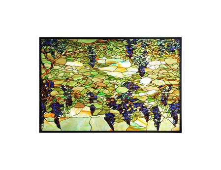 Meyda Tiffany Wisteria & Snowball Stained Glass Window