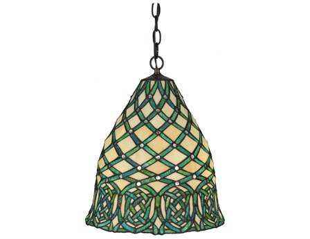 Meyda Tiffany Jeweled Knot Three-Light Pendant Light