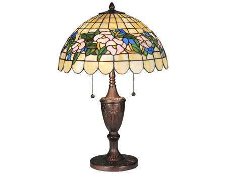 Meyda Tiffany Pansy Multi-Color Table Lamp