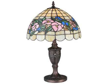 Meyda Tiffany Pansy Multi-Color Accent Table Lamp