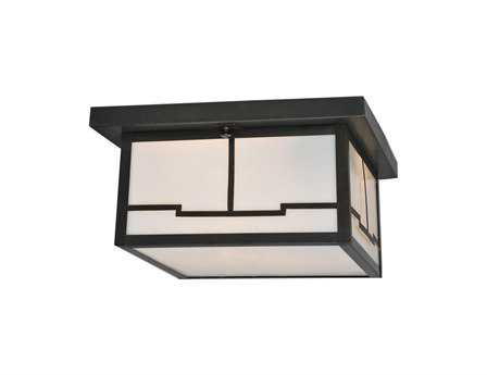 Meyda Tiffany Hyde Park Valley View Two-Light Flush Mount Light