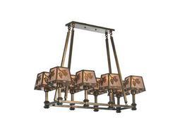 Meyda Tiffany Balsam Pine Oblong Eight-Light Chandelier