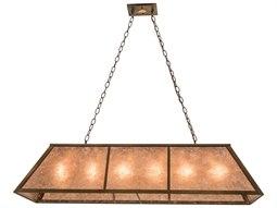 Meyda Tiffany Tri-Panel Nine-Light Oblong Pendant Light