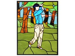 Meyda Tiffany Golf Stained Glass Window