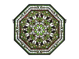 Meyda Tiffany Front Hall Floral Stained Glass Window