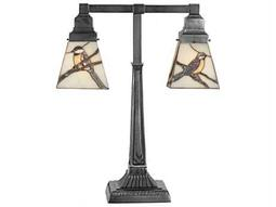 Meyda Tiffany Early Morning Visitors Multi-Color Table Lamp