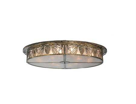 Meyda Tiffany Mountain Pine 12-Light Flush Mount Light