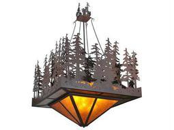 Meyda Tiffany Pine Lake Inverted 11-Light Pendant Light