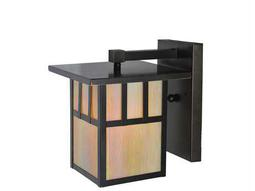 Meyda Tiffany Hyde Park Double Bar Mission Solid Mount Outdoor Wall Light