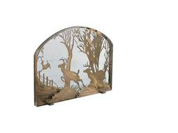 Meyda Tiffany Deer On The Loose Arched Fireplace Screen