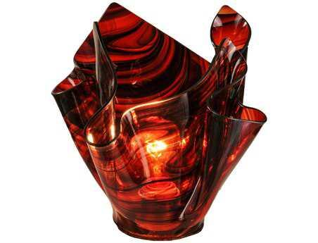 Meyda Tiffany Metro Cabernet Swirl Handkerchief Shade