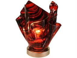 Meyda Tiffany Metro Cabernet Swirl Glass Red Accent Table Lamp