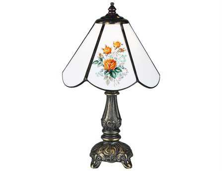 Meyda Tiffany Rose Bouquet White Mini Table Lamp