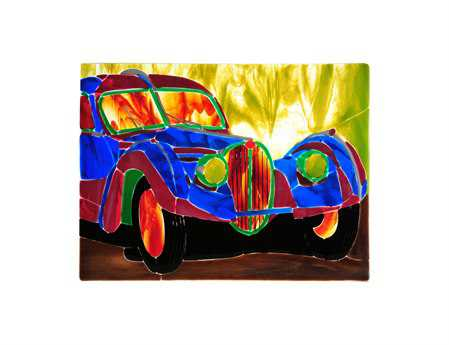 Meyda Tiffany Metro Fusion Bugatti Atlantic Glass Window