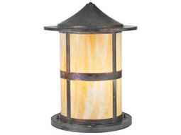 Meyda Tiffany Fulton Beige Vintage Copper Outdoor Pier Mount Light
