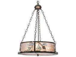 Meyda Tiffany Balsam Pine Four-Light Inverted Pendant Light