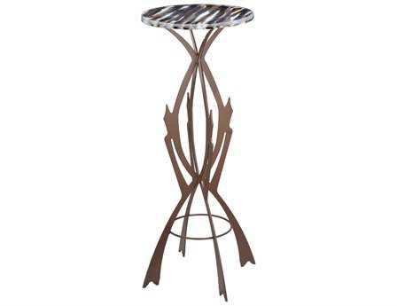 Meyda Tiffany 14.25 Round Marina Fused Glass Table