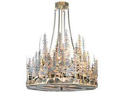 Meyda Tiffany Pine Lake Four-Light Inverted Pendant Light