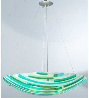 Meyda Tiffany Metro Fusion La Spiaggia Glass Four-Light Inverted Pendant Light