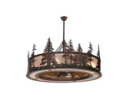 Meyda Tiffany Tall Pines Eight-Light Chandel-Air