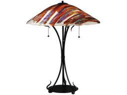 Meyda Tiffany Marina Fused Glass Multi-Color Table Lamp