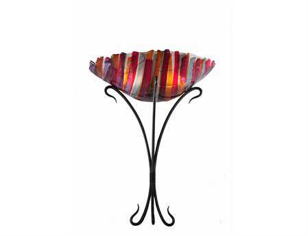 Meyda Tiffany Lava Fused Glass Two-Light Wall Sconce