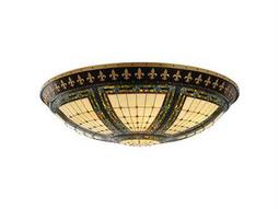 Meyda Tiffany Fleur-De-Lis 12-Light Flush Mount Light